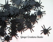 Spider Confetti// Halloween Spider Die Cuts Scrapbook Embellishment Halloween Party 75 pieces - GingerCreations