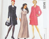 McCalls 90s Dress Pattern 8425 - Misses' Dress or Jumper and Unlined Jacket - Size 18/20/22