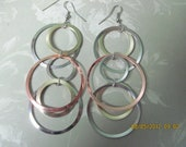 Hoop Earrings in silver, copper, and gold - Belladesigns2010