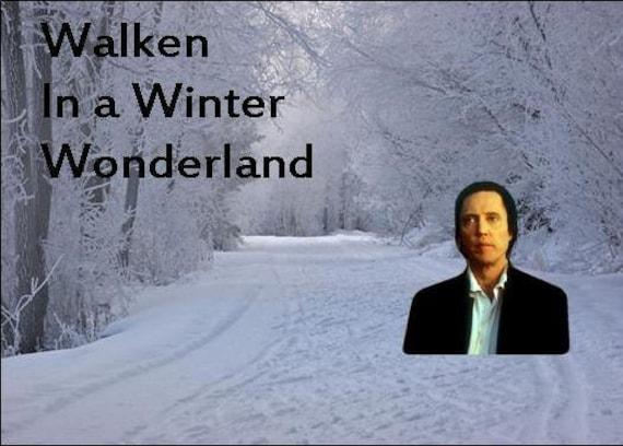 Walken In A Winter Wonderland - Magnet