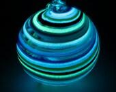 Glowing Hanging Globe Rainbow O8 - TheGoodTimesGlass
