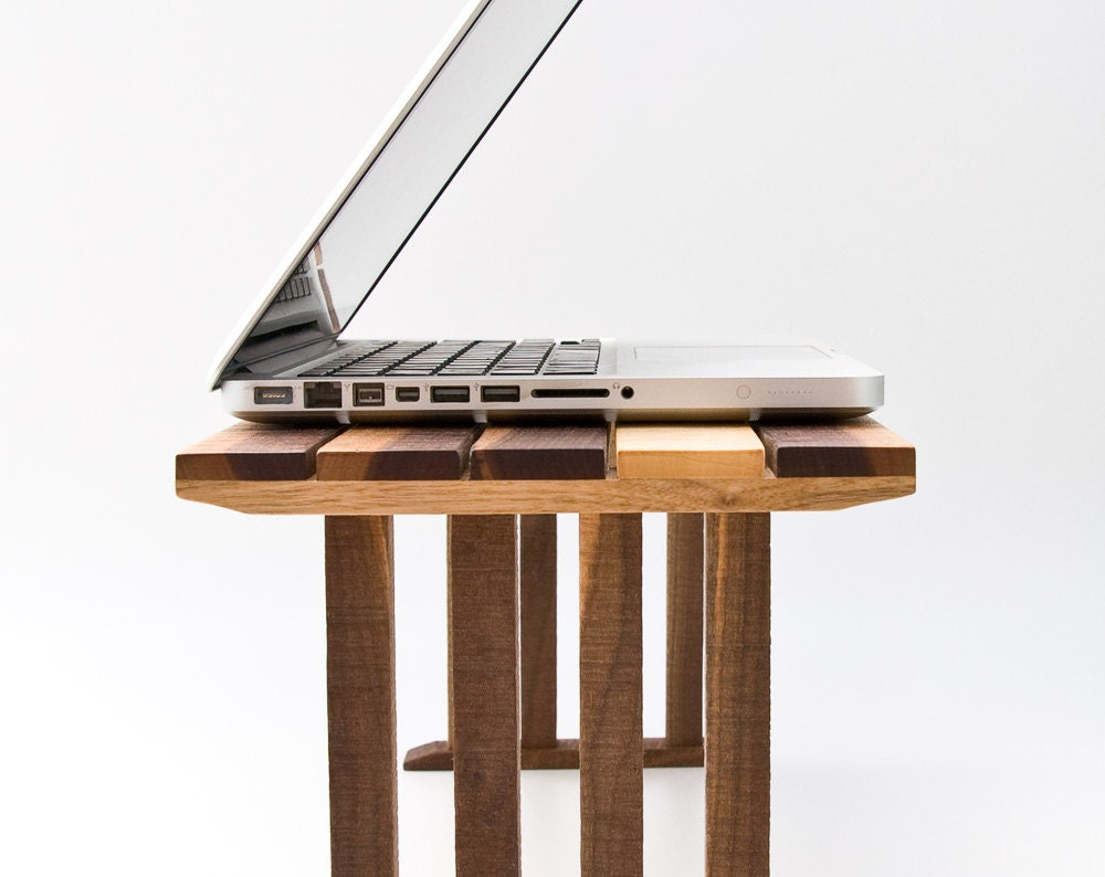 Bedside Laptop Table Wood Lap Desk Sofa Table End by lessandmore