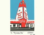 Limited Edition Print: BIG CHICKEN BLUE, Marietta, Georgia.