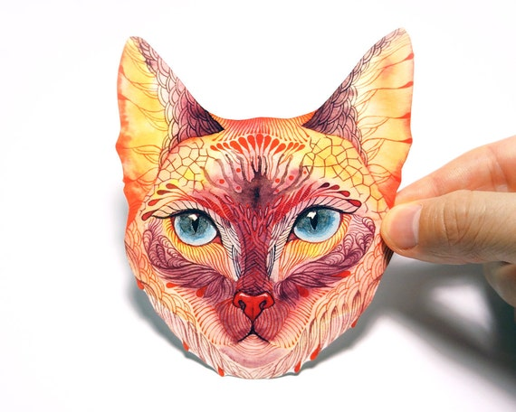 4 for 3 CHRISTMAS SALE. Koshka (Kitty) pet sticker, 100% waterproof vinyl label.