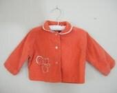 Vintage 1960s Corduroy Baby Jacket / Squirrel - ThriftyVintageKitten