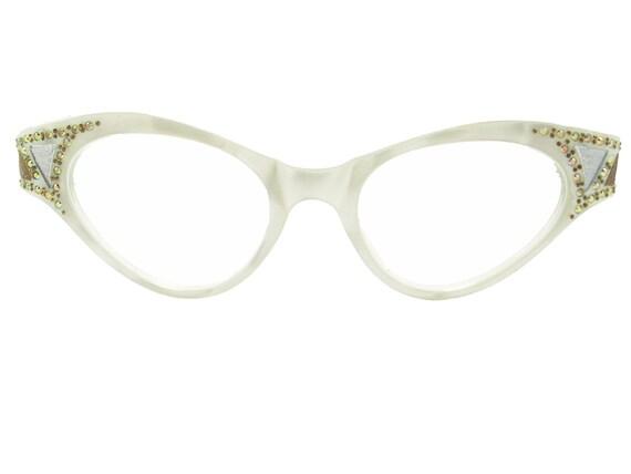 Vintage 50s Frame France Cat Eye Glasses Eyeglasses Sunglasses Glasses New Eyewear