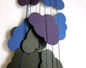 Black Clouds Garland - Rain Clouds Garland - Dark Cloudy Sky Garland - Thunderstorm Decoration - ArtsDelight