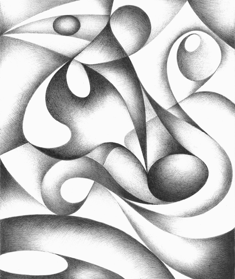Drawing Using Lines And Shapes : Abstract black white on pinterest drawings