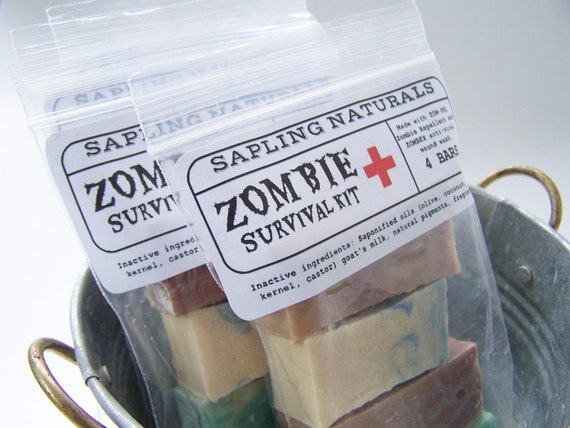 Zombie Survival Kit - travel size - great gift for men, nerds, survivalists
