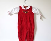 Vintage NEW OLD STOCK Red Blocks Jumper (9 months) - littlereadervintage