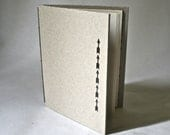 Handmade Hardcover Blank Book with Black Arrows for Stocking Stuffer Writing Sketching - DebraGlanz