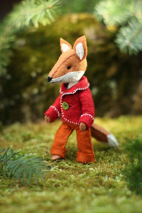 Felix the Fox hand-sewing pattern