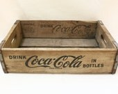 Vintage Coca Cola  Wood Crate Carrier Box with Metal Straps / Item No 081612 - bygrassdoll