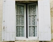 France shabby white grey window -  La fenêtre -  fine art analog print 8 x 12 - LumiereDuMatin