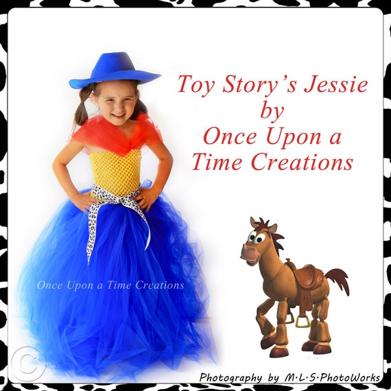 SALE - Ready To Ship - Toy Story's Jessie Inspired Tutu Dress - Halloween Costume - 3T 4T 5T - Disney Toy Story Inspired