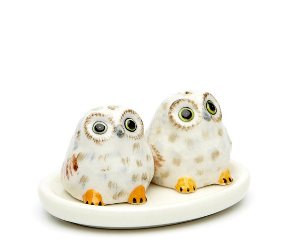 Mini salt shaker - Owl salt and pepper grinders ...