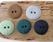 Fall Leaves Button Collection. Multicolor XL Porcelain Buttons.Ceramic Buttons. - BlueMagpieDesign