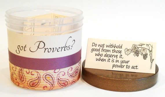 """Sweet Home Treasures got Proverbs - Christian Gift Set with 90 Bible Verses - """"Rustic Paisley"""""""