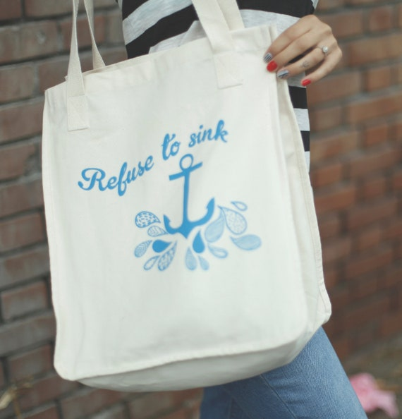Refuse to Sink Organic Tote Ocean