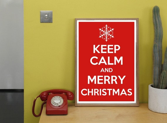 Keep Calm  and Merry Christmas Photo 8x10 digital JPEG print DIY Printable tiffany blue