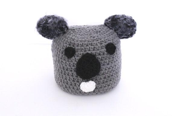 Koala kids crochet beanie