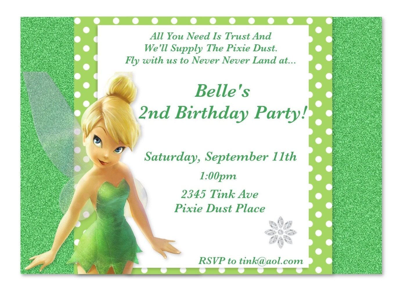 Displaying 12> Images For - Tinkerbell Invitations...