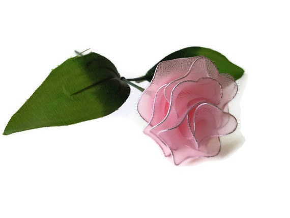 Handmade Nylon Carnation