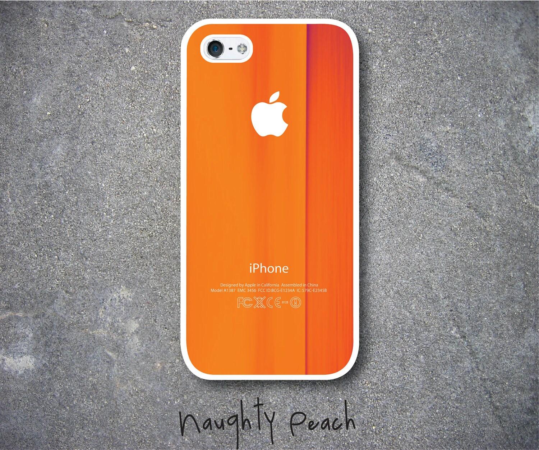 items similar to iphone 5 case orange brush iphone 5. Black Bedroom Furniture Sets. Home Design Ideas