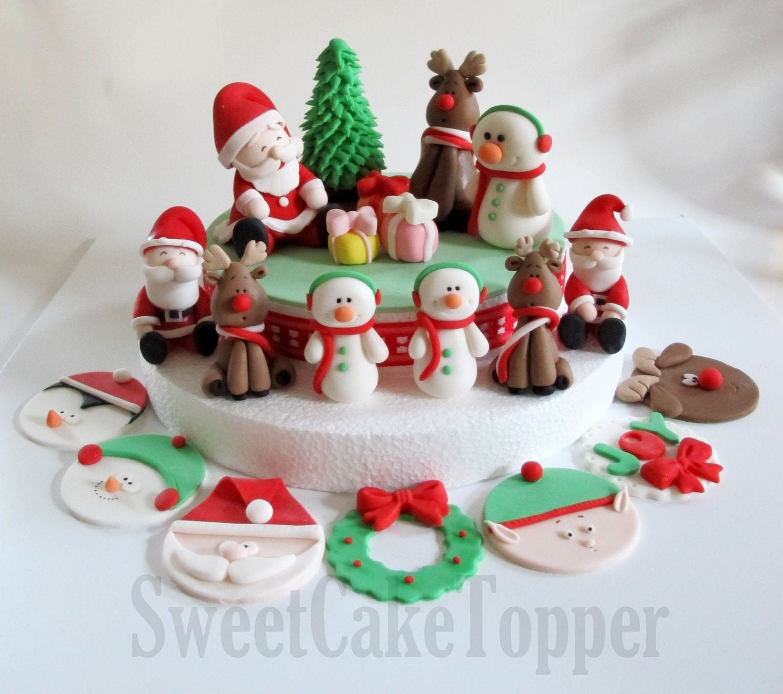 Fondant Cake For Christmas : Fondant Christmas Cake auf Pinterest Weihnachtskuchen