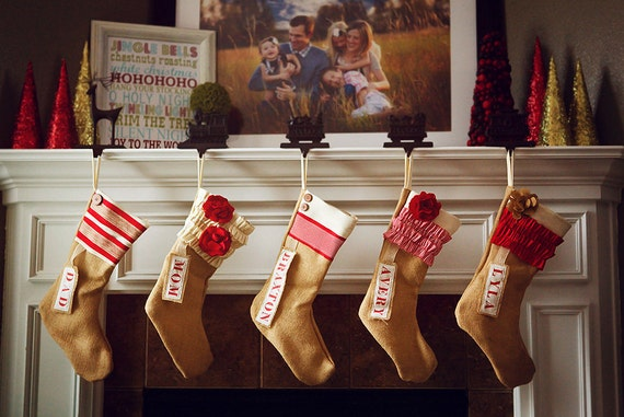 Personalized Christmas Stocking: Red and White Collection