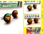 Kente fabric Cufflinks
