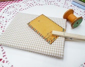 Caramel Brown Gingham (Small) Print Cotton Fabric in A Fat Quarter - Zakka