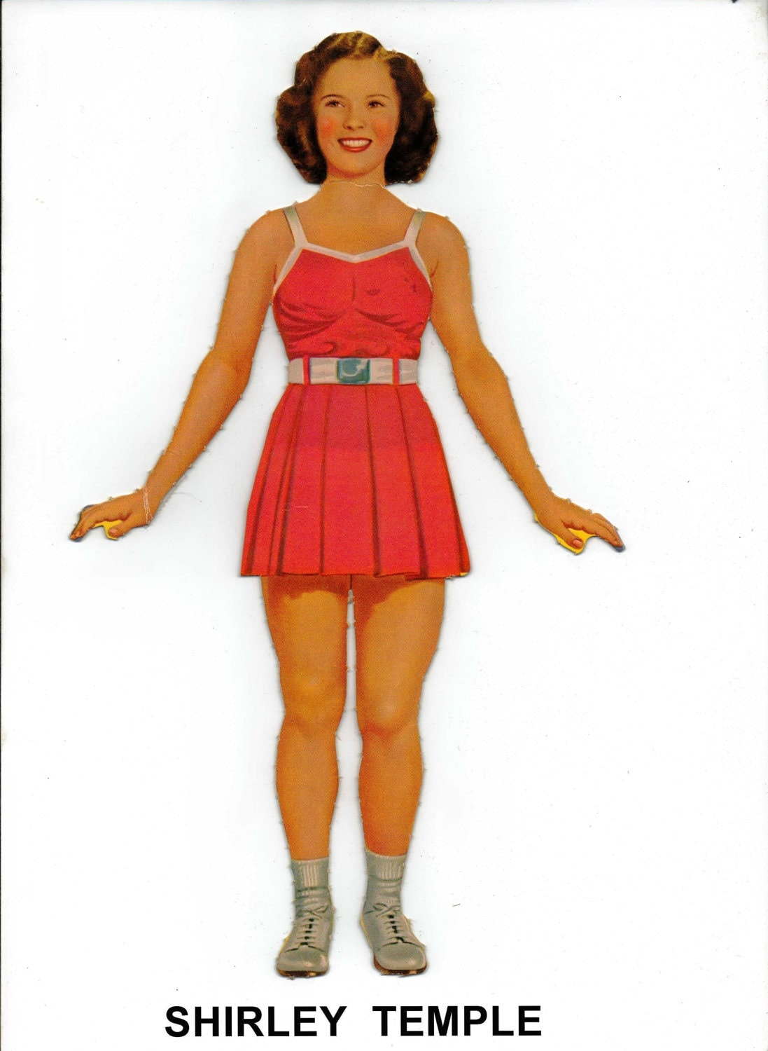 il fullxfull.367547967 d7ox 1942 Shirley Temple as Teen paper doll, Saalfield No. 2425   photoesque