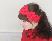 Retro Crochet Bow Headband