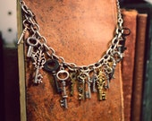 Mixed Small Keys Necklace
