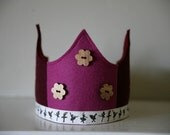 SALE Wool Felt Crown - Ballet Dancer pink or purple