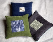 Set of 3 corduroy bean bags