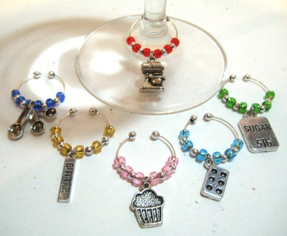 Baking Wine Charms - FREE SHIPPING