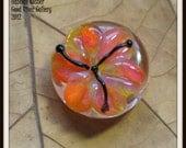 Stargazer Lily Lampwork Glass Bead Pendant