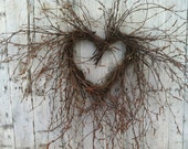 Valentine Heart Wreath - Natural Birch Branch Wreath - marigoldsdesigns