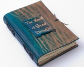 Colorful Leather Journal The Book of Good Thoughts - GILDBookbinders