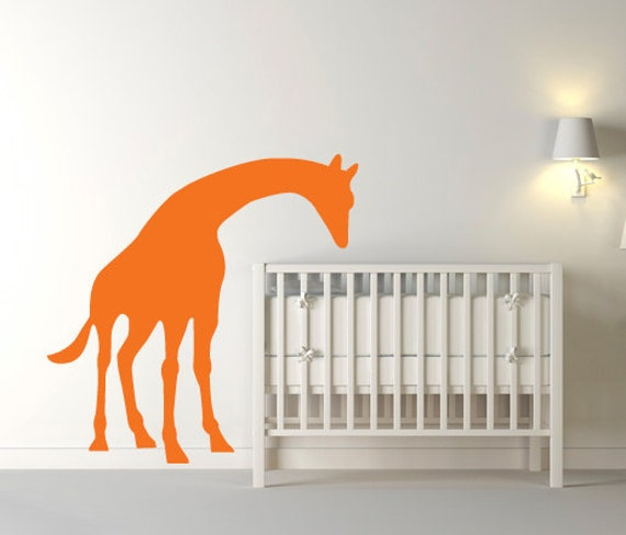Wall Decal - Leaning Giraffe Wall Decal