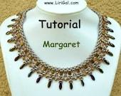 Tutorial Margaret SuperDuo Tila Necklace PDF