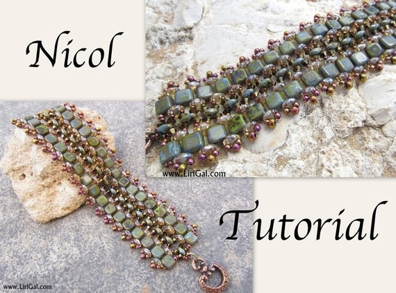 Tutorial Nicol SuperDuo and Tila Beadwork Bracelet PDF