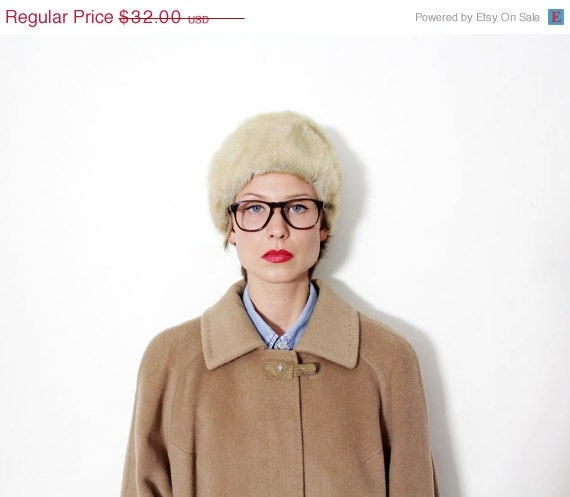50% OFF SALE Vintage fur hat