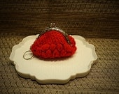 Red and silver coin purse