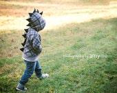 Children's Dinosaur Hoodie - SwankyPankyDesigns