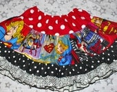 Sparkle and Twirl - Super Girl Power Wonder Woman - MIX-UP Sparkle Skirt TuTu Pettiskirt OOAK Girl's sz 3-4T Toddler - Ready to Ship