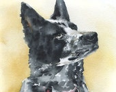 Custom Pet Portrait Original Watercolor Painting 8 x 10 - SusanWindsor