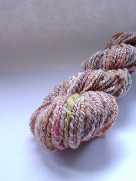 Handspun Yarn -   2ply - Faded Marigold  -  1.5 oz  Skein